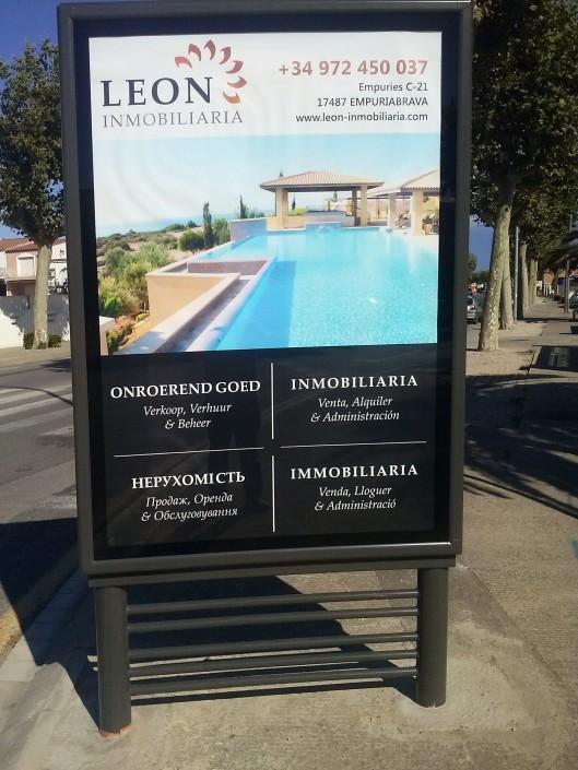 MUPI Leon Inmobiliaria